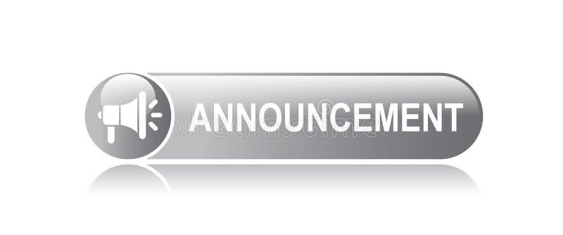 bottone di web di annuncio royalty illustrazione gratis