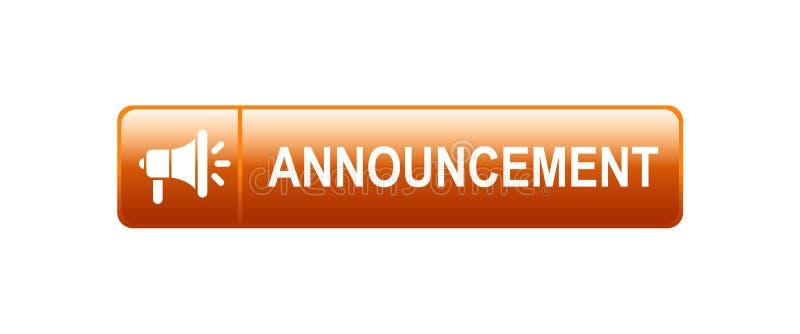 bottone di web di annuncio illustrazione vettoriale