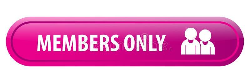 Bottone di web dei membri soltanto illustrazione vettoriale