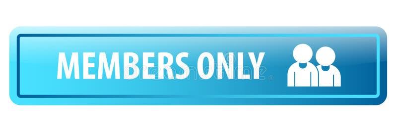 Bottone di web dei membri soltanto illustrazione di stock