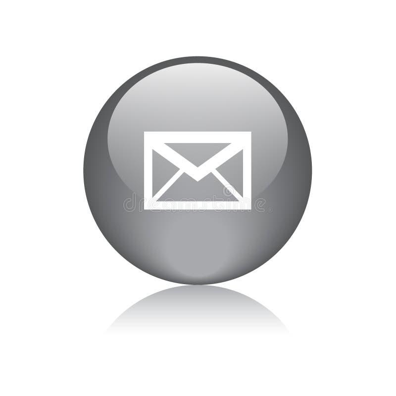 Bottone di web dell'icona della posta rotondo illustrazione di stock