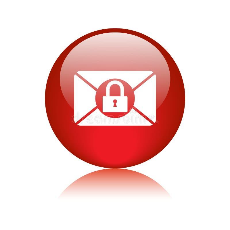 Bottone di web dell'icona di protezione della posta royalty illustrazione gratis