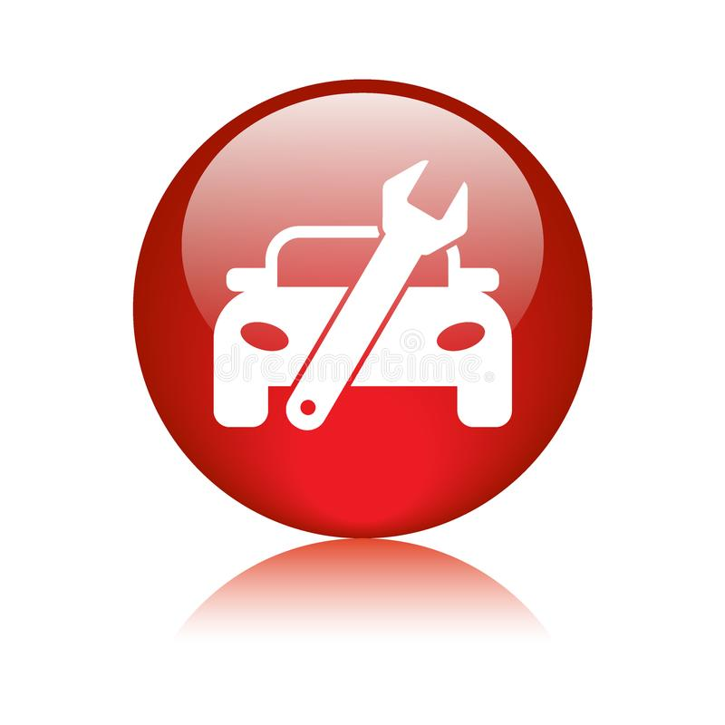 Bottone di web dell'icona di servizio dell'automobile illustrazione vettoriale