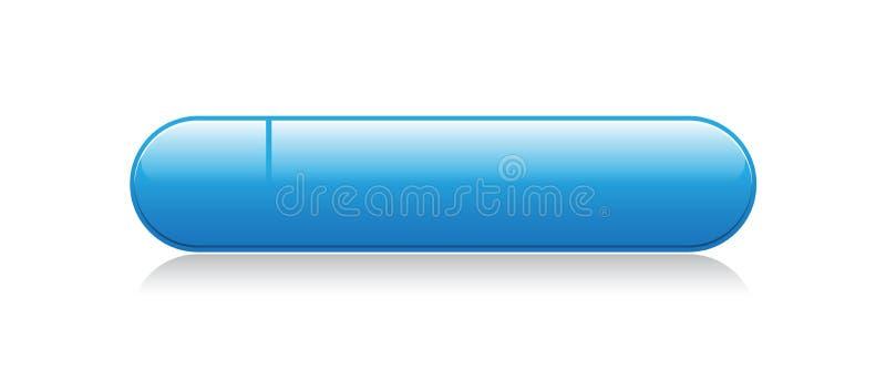 Bottone di web vuoto illustrazione di stock