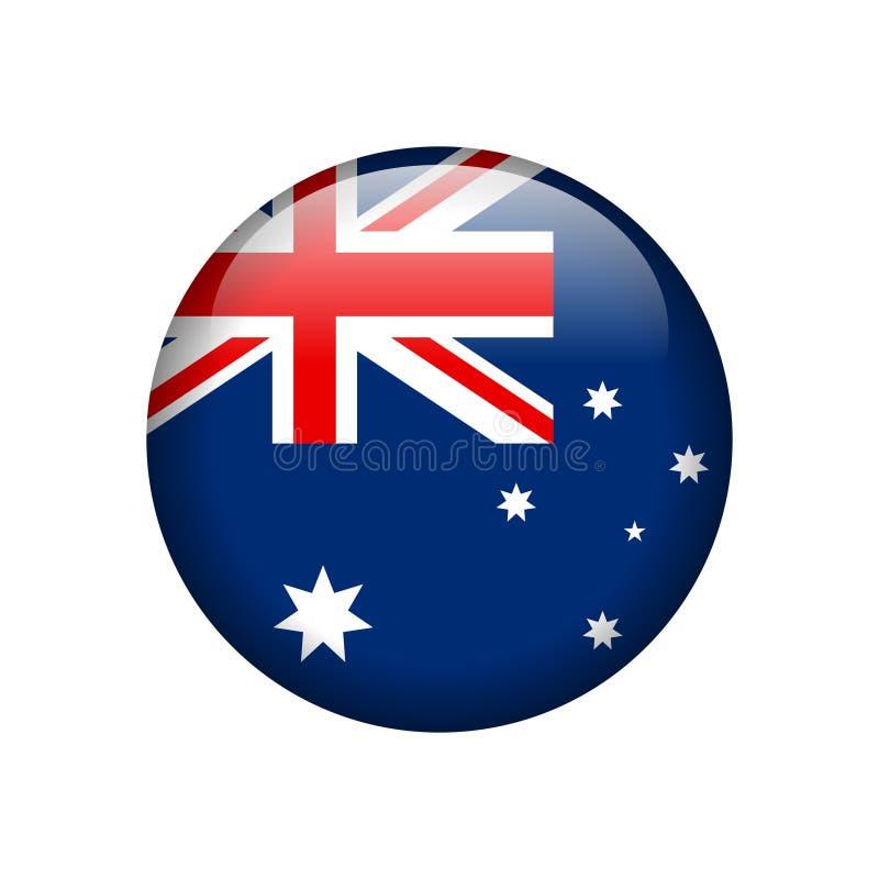Bottone lucido della bandiera australiana royalty illustrazione gratis