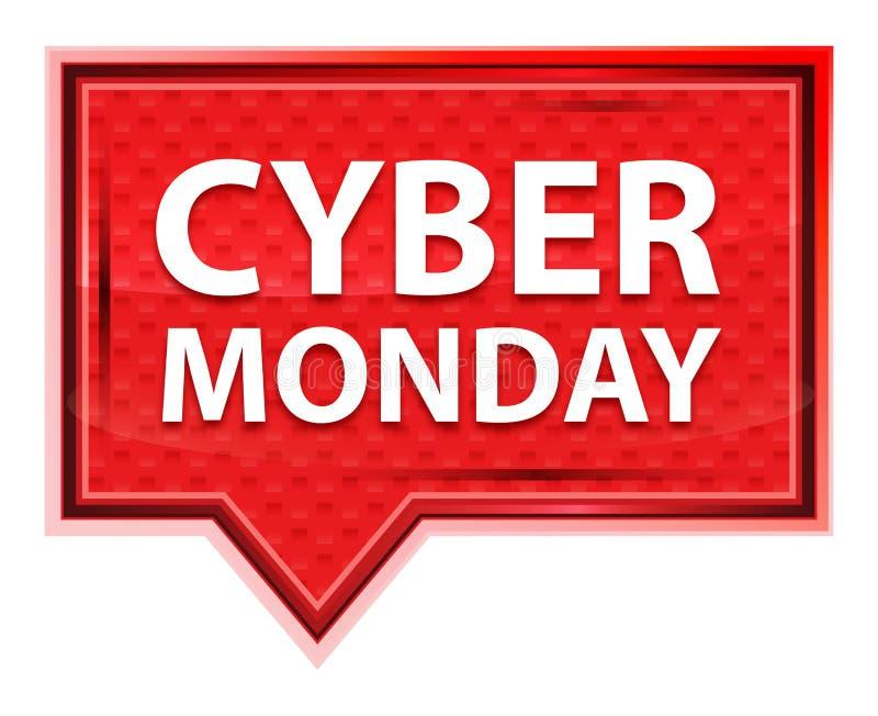 Bottone nebbioso cyber dell'insegna di rosa di rosa di lunedì illustrazione di stock