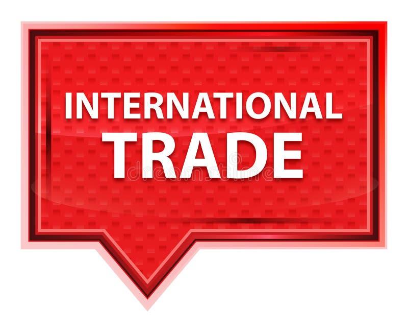 Bottone nebbioso dell'insegna di rosa di rosa del commercio internazionale royalty illustrazione gratis