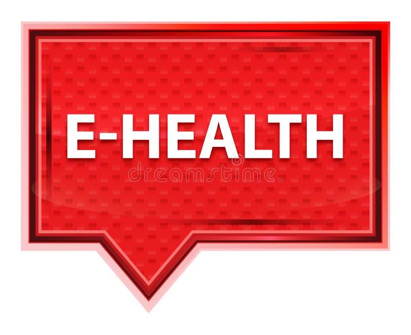 bottone nebbioso dell'insegna di rosa di rosa di E-salute royalty illustrazione gratis