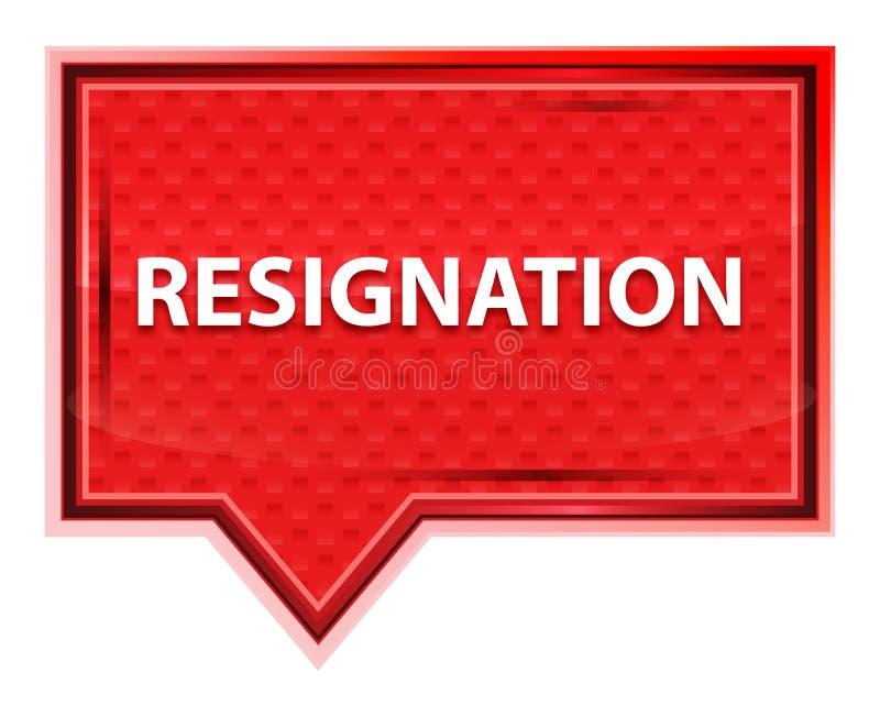 Bottone nebbioso dell'insegna di rosa di rosa di rassegnazione illustrazione di stock