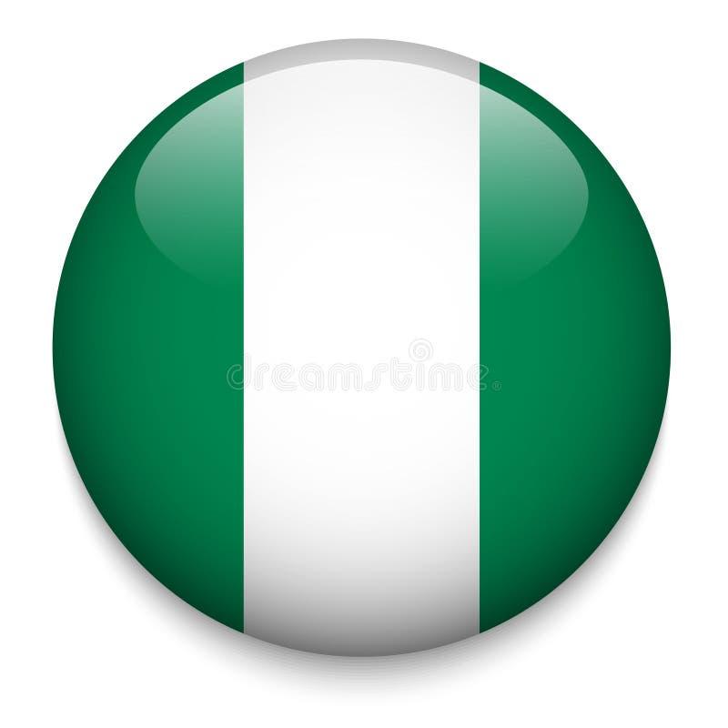 Bottone NIGERIANO della bandiera illustrazione vettoriale