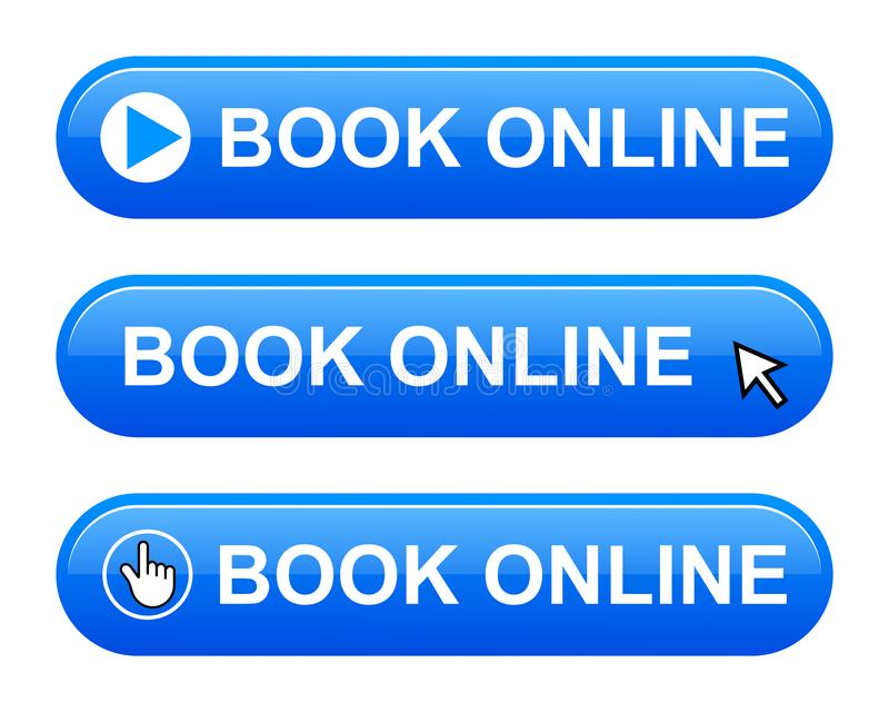 bottone online del libro illustrazione di stock