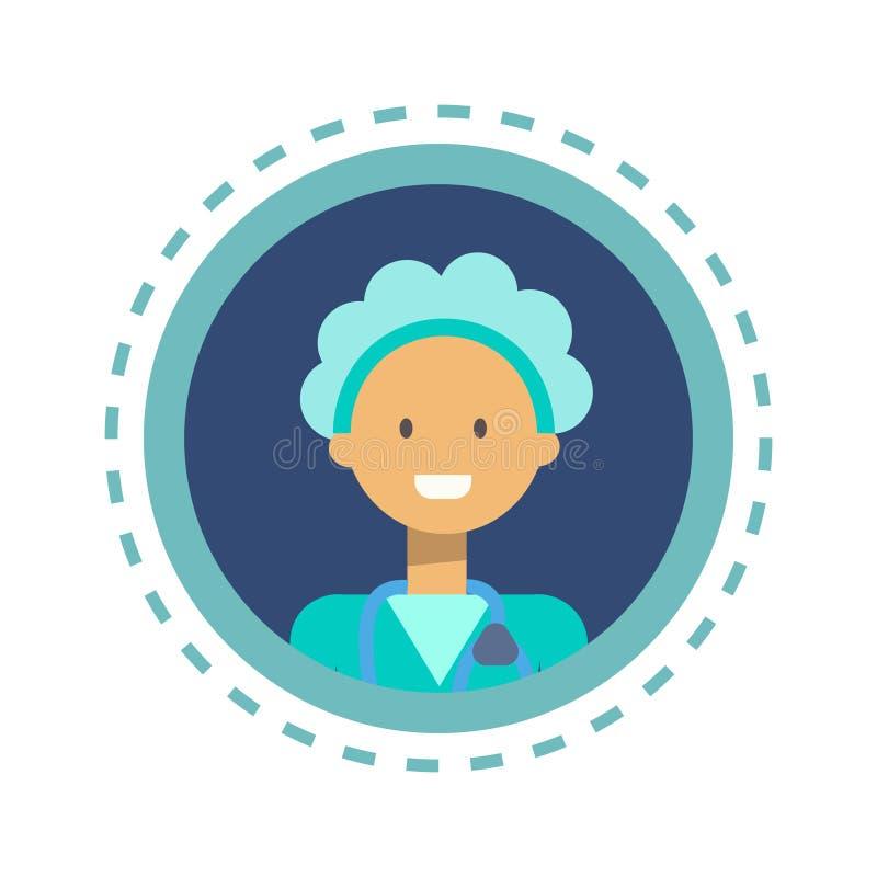 Bottone online di consultazione del lavoratore della medicina di medico Icon Clinics Hospital illustrazione di stock