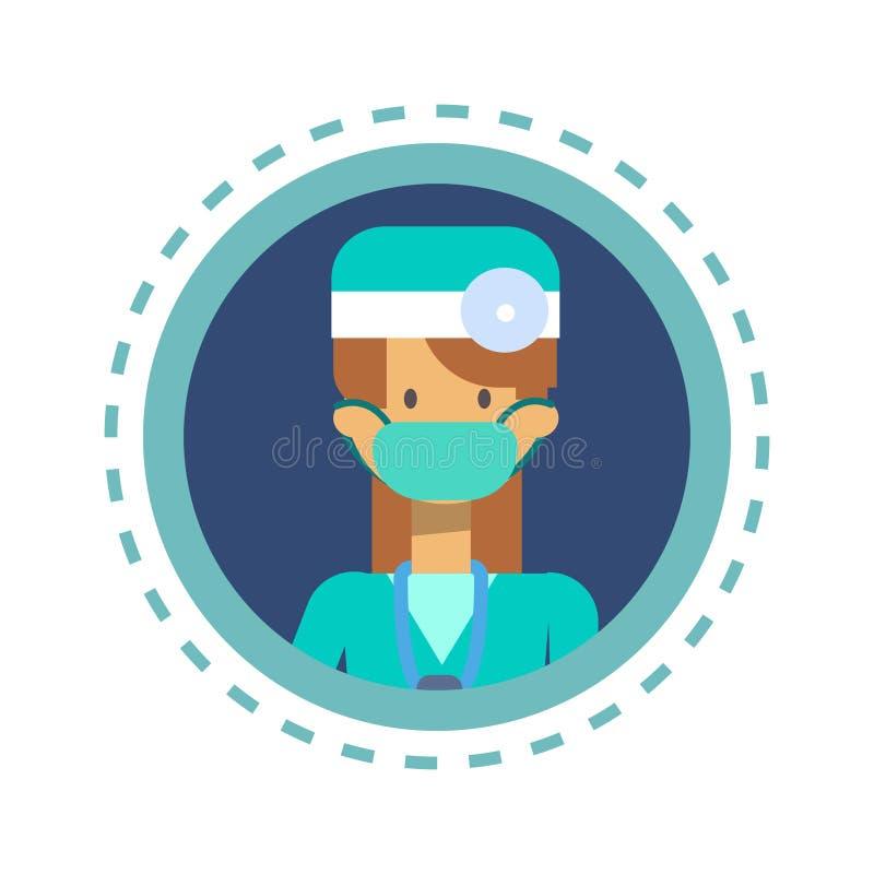 Bottone online di consultazione del lavoratore della medicina di medico Icon Clinics Hospital illustrazione vettoriale