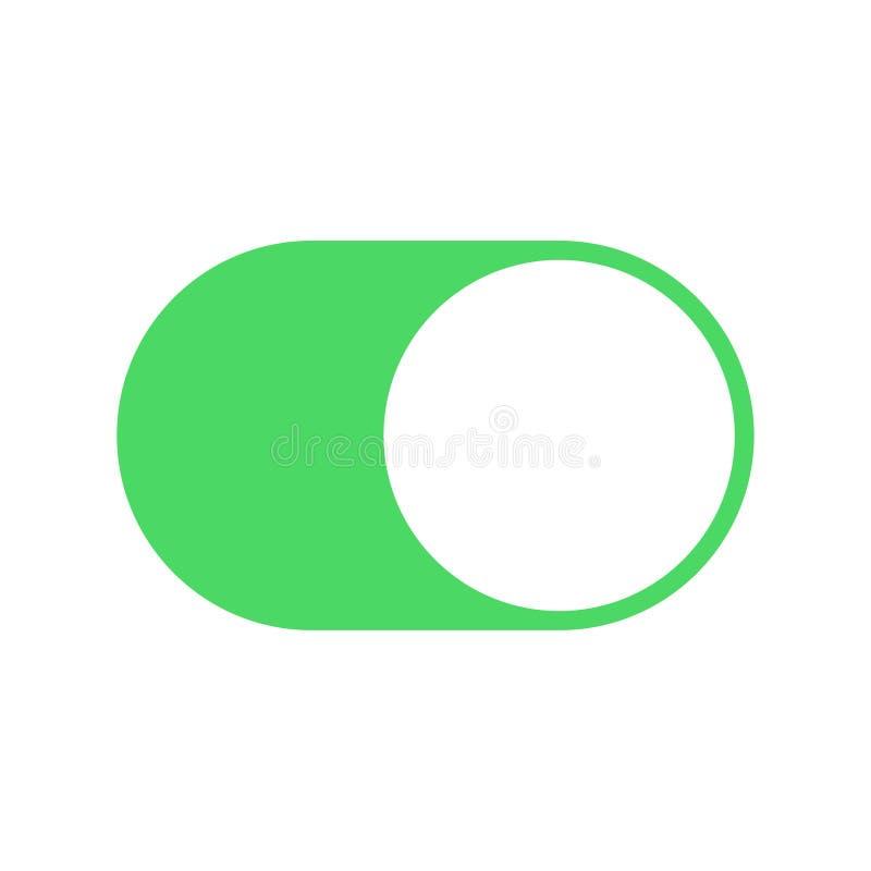 Bottone per il giro in funzione e a riposo del colore illustrazione di stock