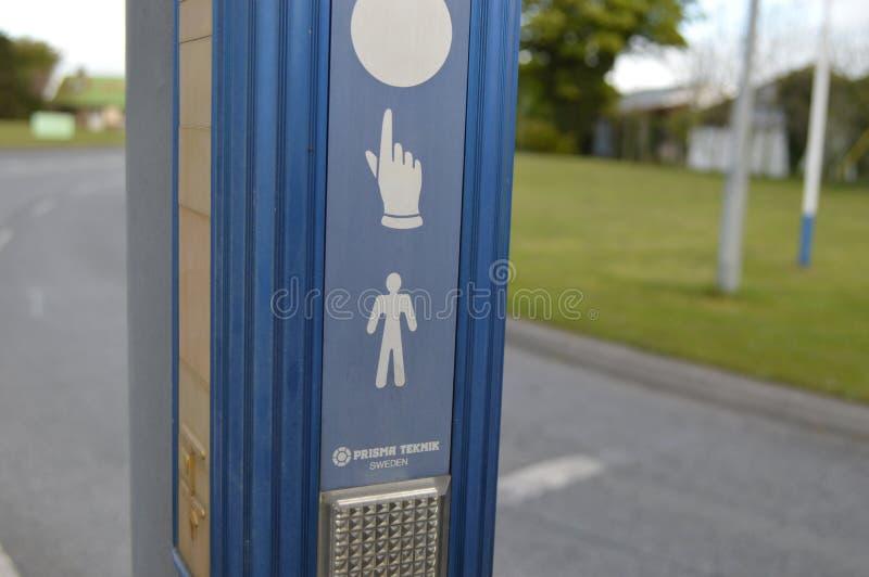 Bottone per il pedone fotografie stock libere da diritti