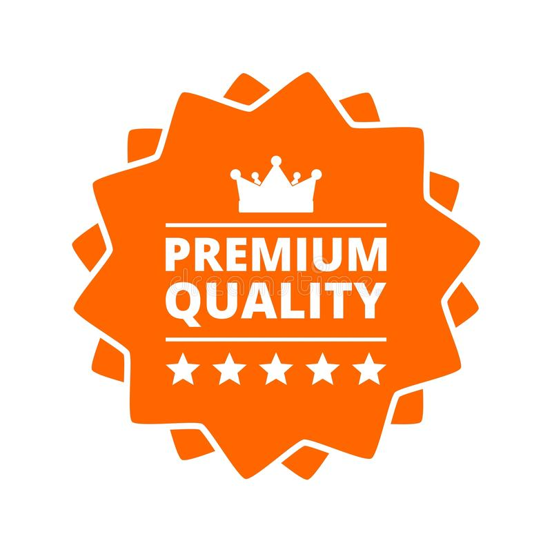 Bottone premio dell'icona del segno di qualità illustrazione vettoriale