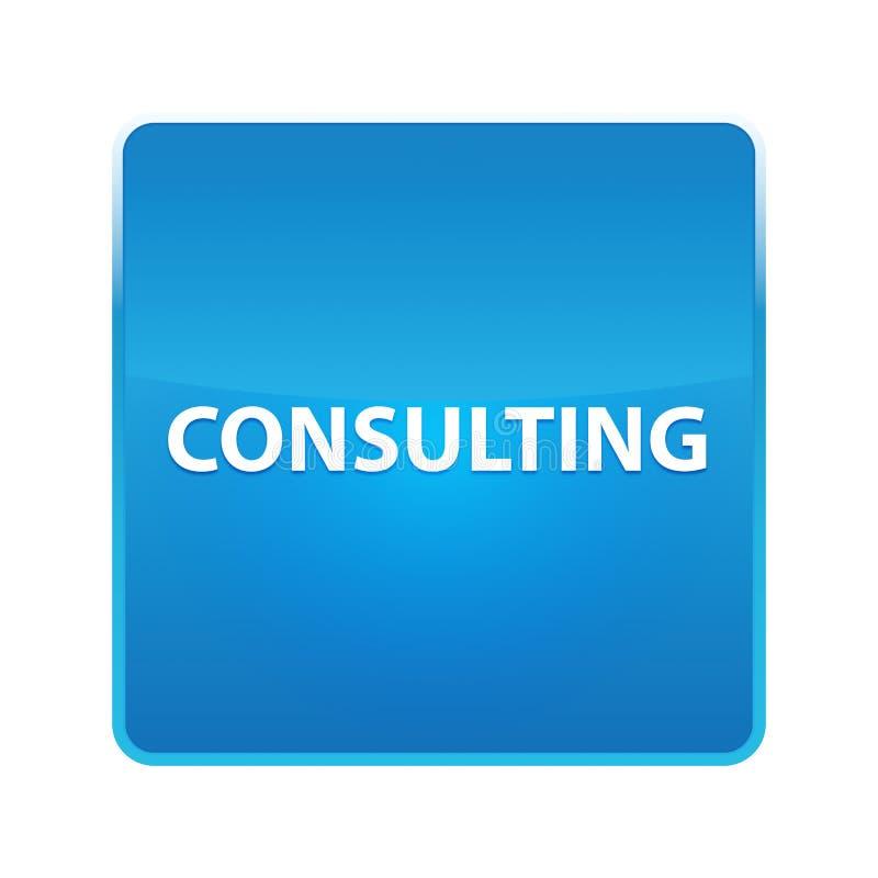 Bottone quadrato blu brillante consultantesi royalty illustrazione gratis