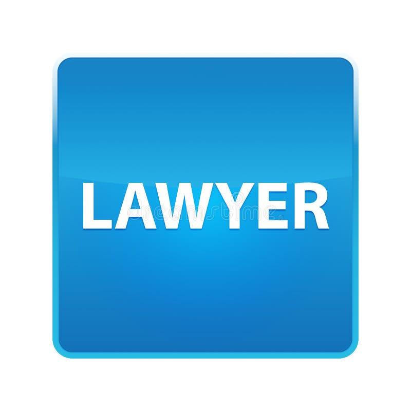Bottone quadrato blu brillante dell'avvocato illustrazione vettoriale