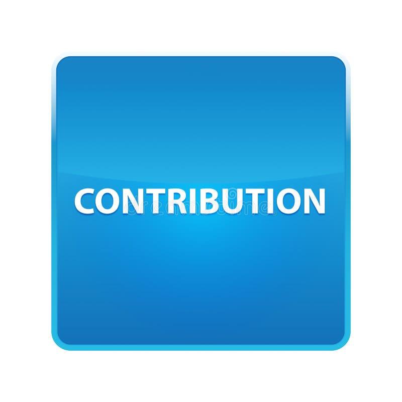 Bottone quadrato blu brillante di contributo royalty illustrazione gratis