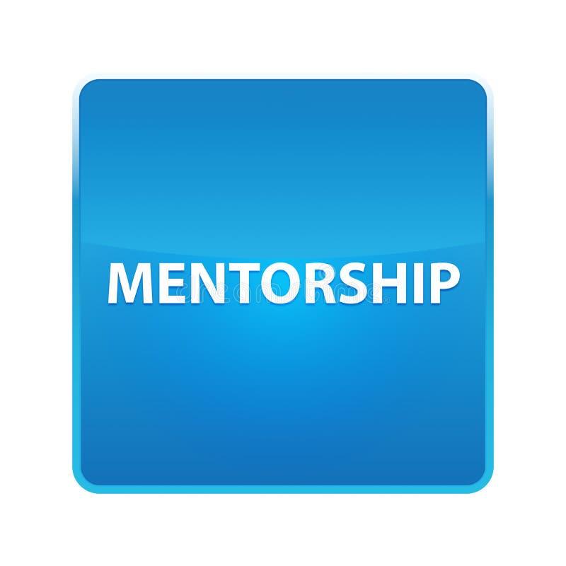 Bottone quadrato blu brillante di mentoring royalty illustrazione gratis