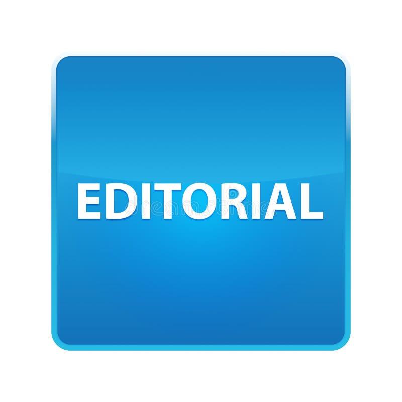 Bottone quadrato blu brillante editoriale royalty illustrazione gratis