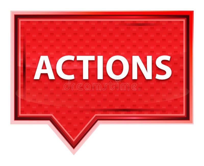 Bottone rosa rosa nebbioso dell'insegna di azioni illustrazione di stock