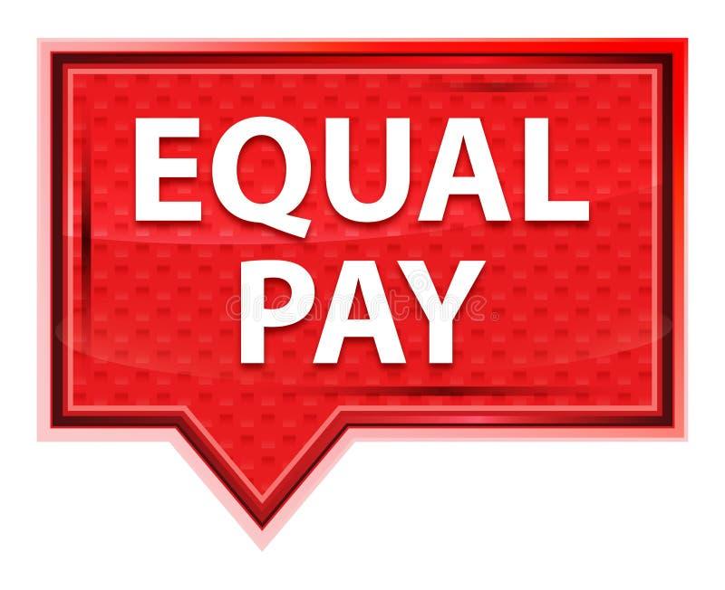 Bottone rosa rosa nebbioso dell'insegna di parità salariale illustrazione di stock