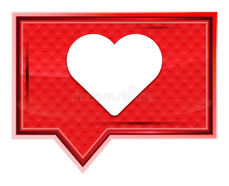 Bottone rosa rosa nebbioso dell'insegna dell'icona del cuore illustrazione vettoriale
