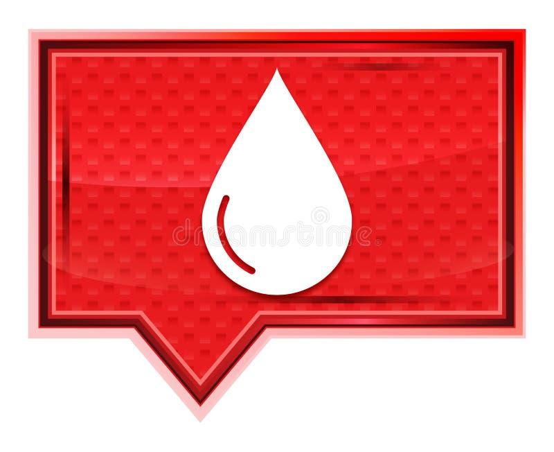 Bottone rosa rosa nebbioso dell'insegna dell'icona della goccia di acqua royalty illustrazione gratis