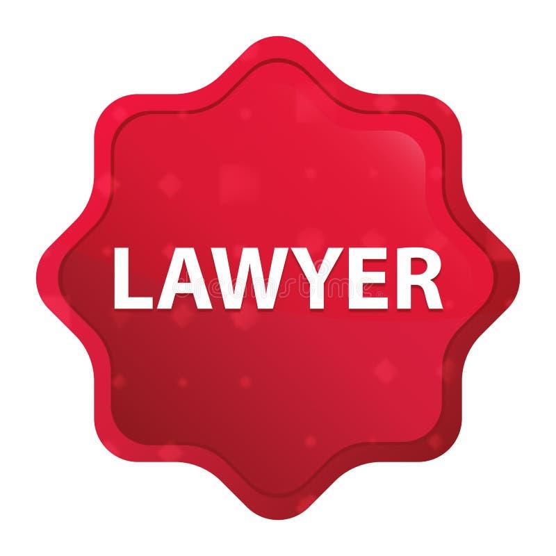 Bottone rosso rosa nebbioso dell'autoadesivo dello starburst dell'avvocato royalty illustrazione gratis