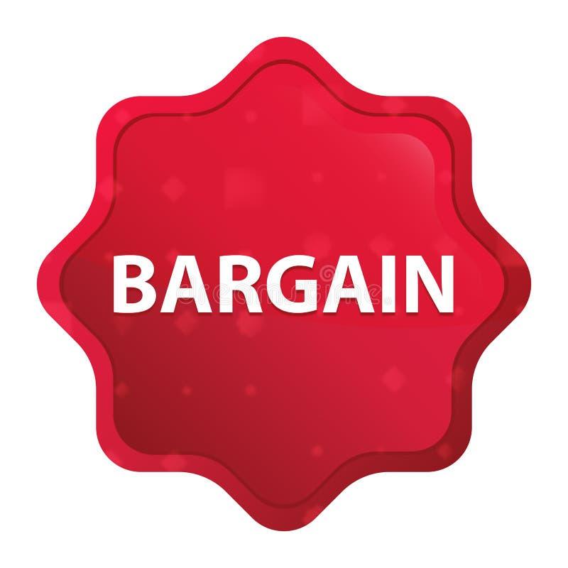 Bottone rosso rosa nebbioso dell'autoadesivo dello starburst di affare royalty illustrazione gratis