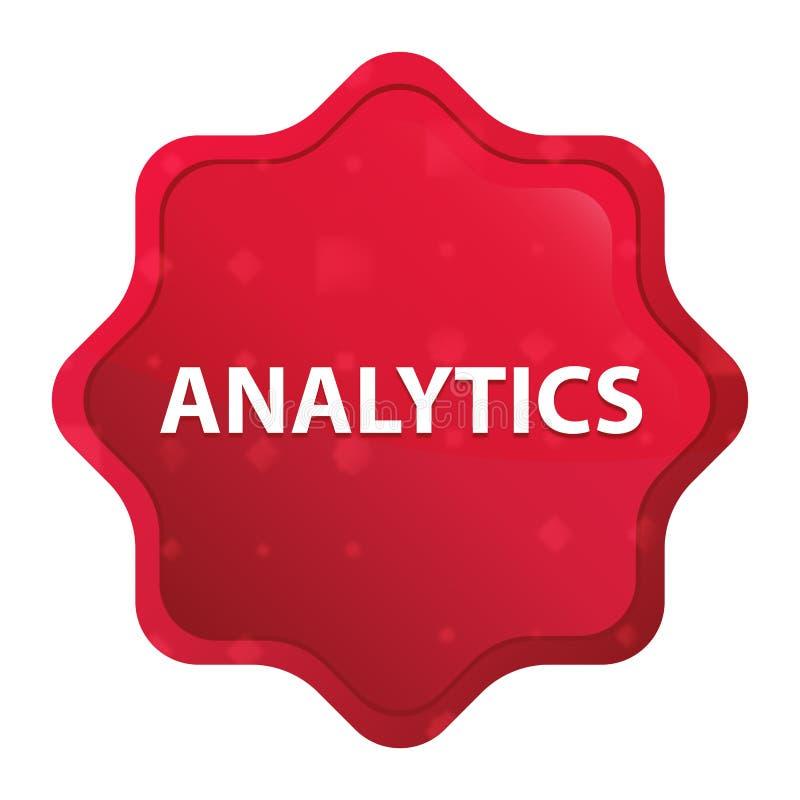 Bottone rosso rosa nebbioso dell'autoadesivo dello starburst di analisi dei dati royalty illustrazione gratis