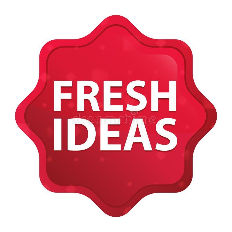 Bottone rosso rosa nebbioso dell'autoadesivo dello starburst di idee originali royalty illustrazione gratis