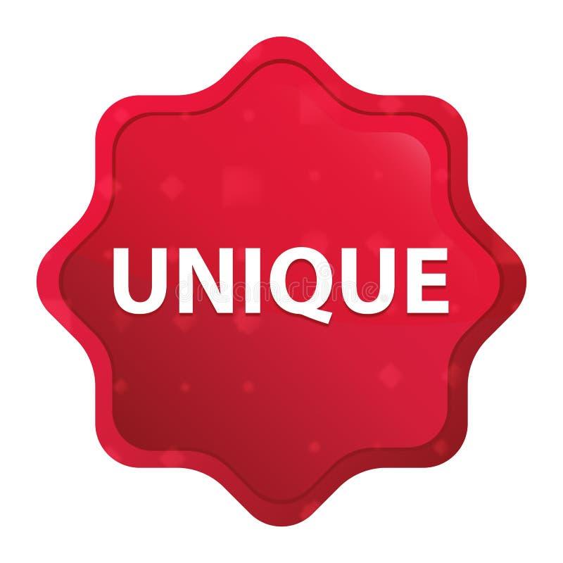 Bottone rosso rosa nebbioso unico dell'autoadesivo dello starburst illustrazione vettoriale