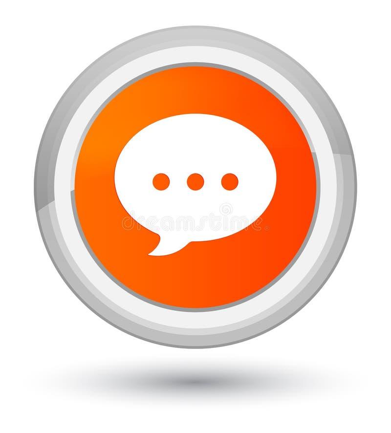 Bottone rotondo arancio di perfezione dell'icona di conversazione illustrazione vettoriale