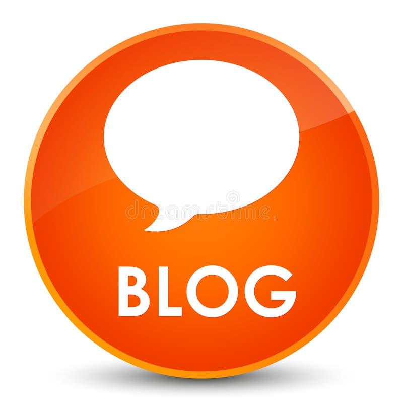 Bottone rotondo arancio elegante del blog (icona di conversazione) illustrazione vettoriale