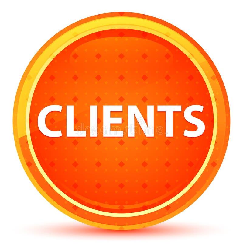 Bottone rotondo arancio naturale dei clienti illustrazione di stock