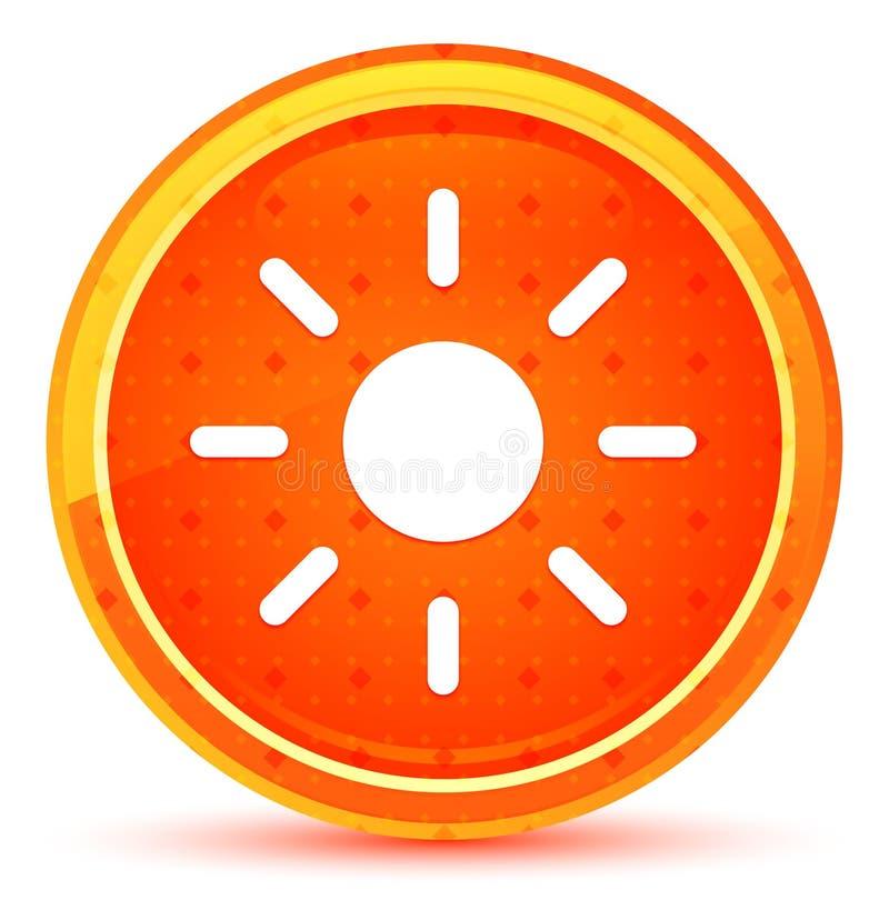 Bottone rotondo arancio naturale dell'icona del sole di luminosit? dello schermo illustrazione vettoriale