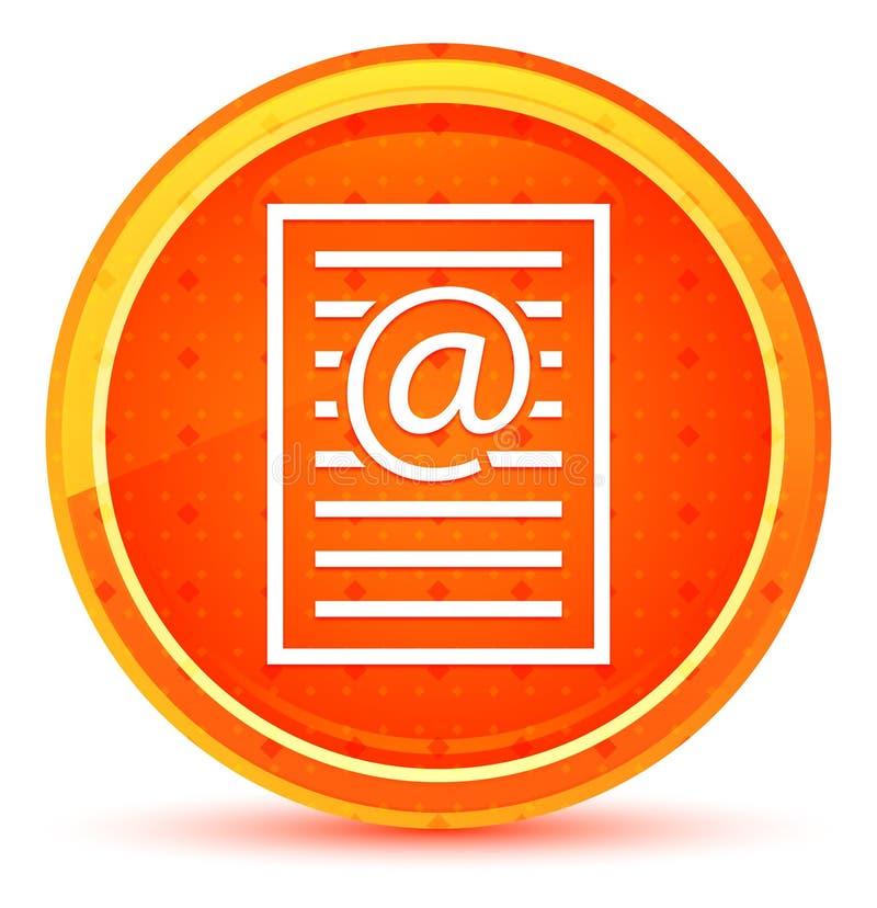 Bottone rotondo arancio naturale dell'icona della pagina di indirizzo email illustrazione di stock