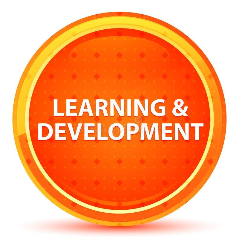 Bottone rotondo arancio naturale di sviluppo & di apprendimento illustrazione di stock