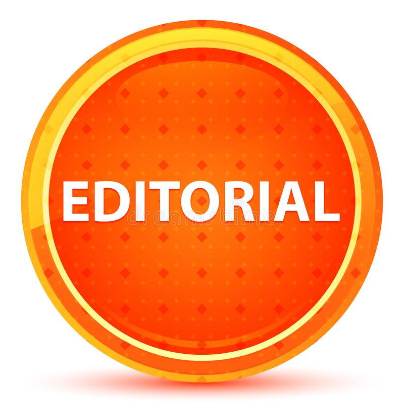 Bottone rotondo arancio naturale editoriale illustrazione di stock