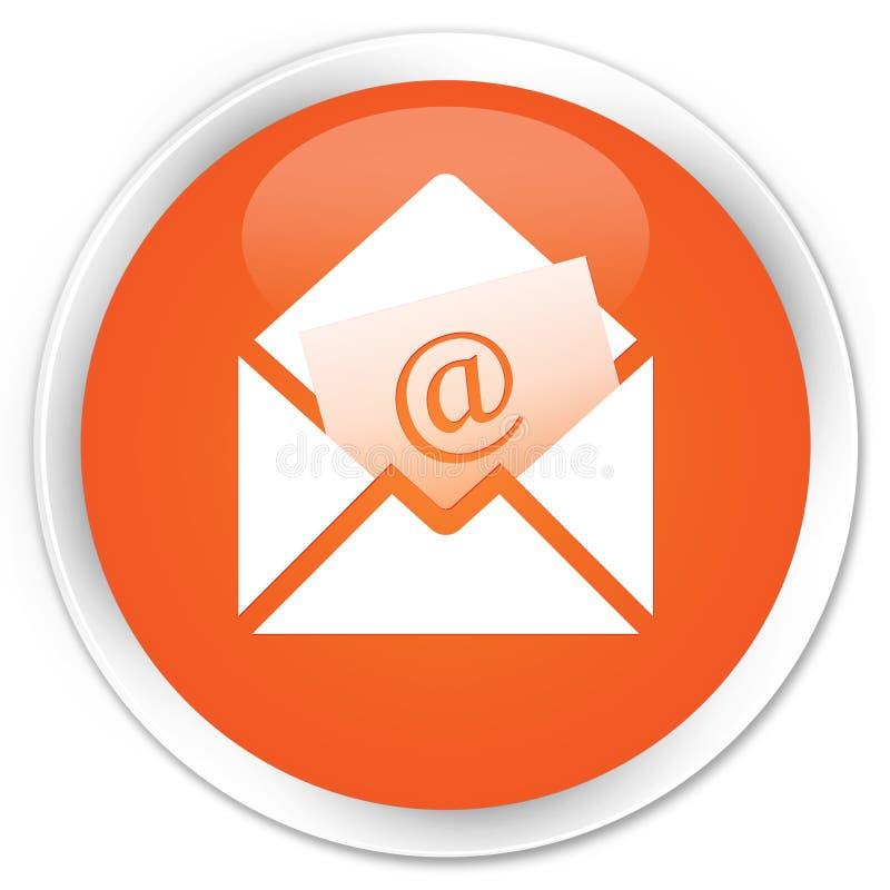 Bottone rotondo arancio premio dell'icona del email del bollettino illustrazione vettoriale