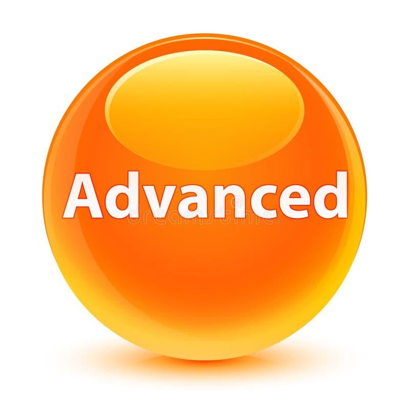 Bottone rotondo arancio vetroso avanzato royalty illustrazione gratis