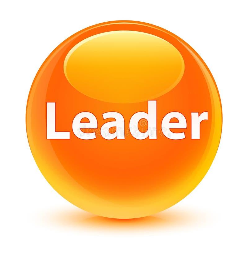 Bottone rotondo arancio vetroso del capo illustrazione di stock