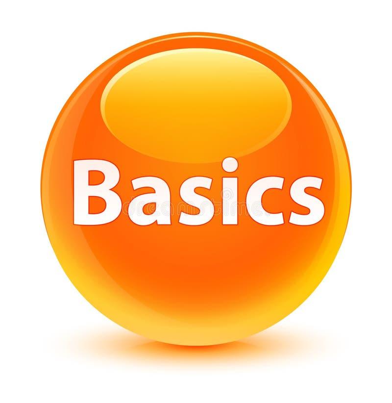Bottone rotondo arancio vetroso di basi royalty illustrazione gratis