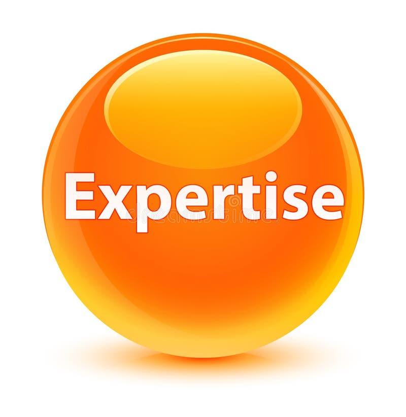 Bottone rotondo arancio vetroso di competenza illustrazione vettoriale