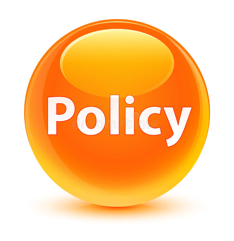 Bottone rotondo arancio vetroso di politica illustrazione vettoriale