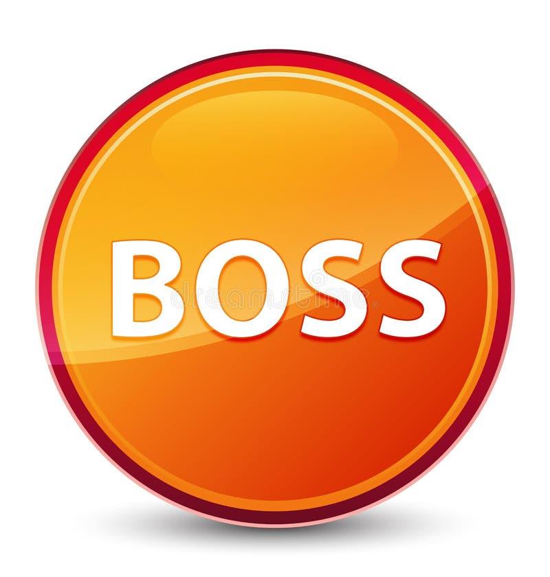 Bottone rotondo arancio vetroso speciale del capo royalty illustrazione gratis