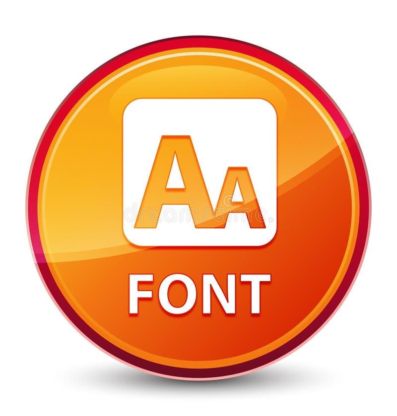 Bottone rotondo arancio vetroso speciale della fonte royalty illustrazione gratis