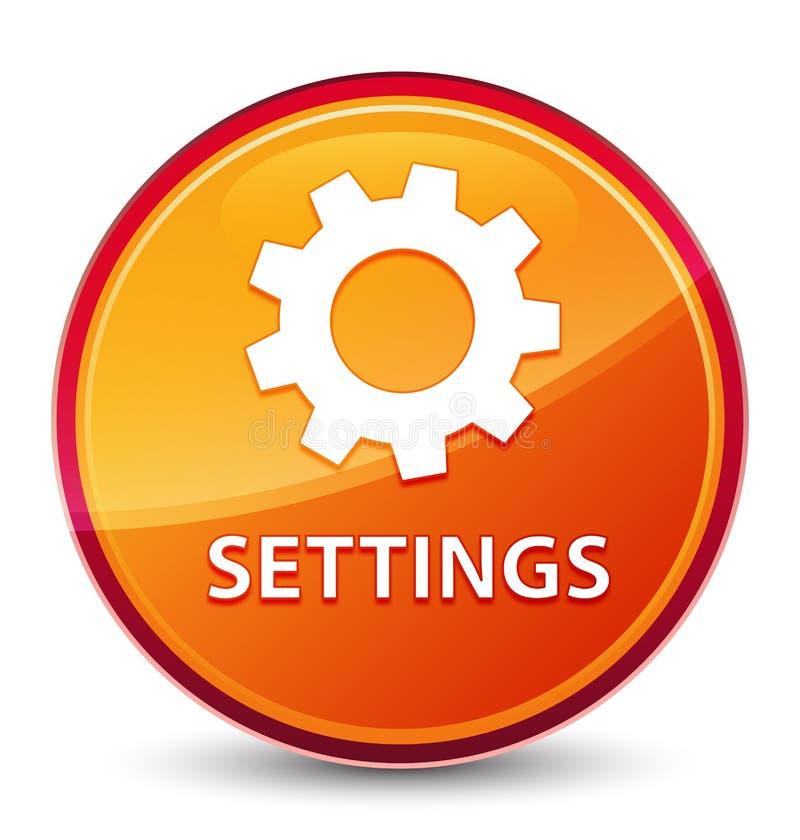Bottone rotondo arancio vetroso speciale delle regolazioni illustrazione vettoriale